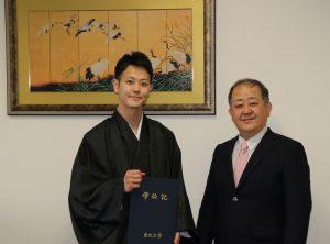 高次修練で参画した酒井元輝さんが、卒業し国家試験合格しました。