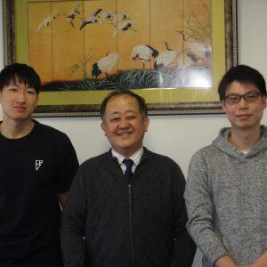 2021年度高次臨床修練Ⅱ期小林弘人さん(左)柿原大地さん(右)