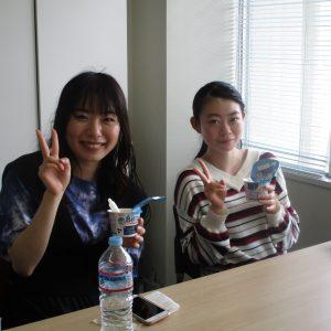 保健学科検査技術科学専攻の寒河江 陽菜さんと神 仁美さんが、卒業研究で配属されました。