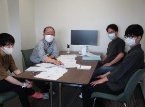 高次臨床修練Ⅴ期 秋葉大地さん、萩原伊織さん 勉強中 ※換気してます